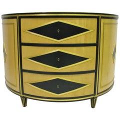 Russian Neoclassic Style Demilune Cabinet