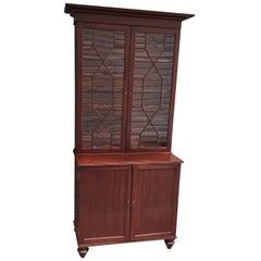 19th Century Barbados Regency Mahogany Bookcase or China Cabinet