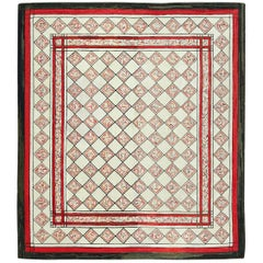 Vintage Art Deco American Hooked Rug. Size:6 ft 4 in x 7 ft 4 in