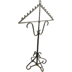 19th Century French Iron Chandelier For Sale at 1stdibs