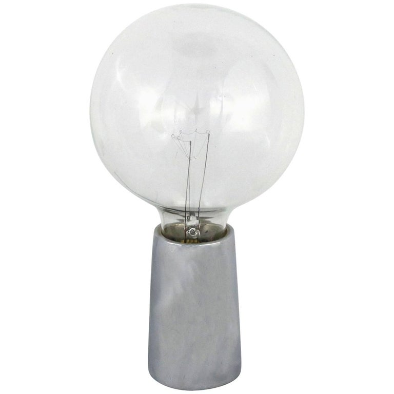 Bill Curry Pick-Up Bulb Table Lamp in Chrome for Design Line For Sale
