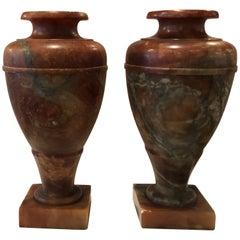 Pair of Illuminating Marble Urn Lamps