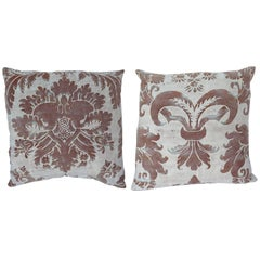 Fortuny Pillows with vintage fabric