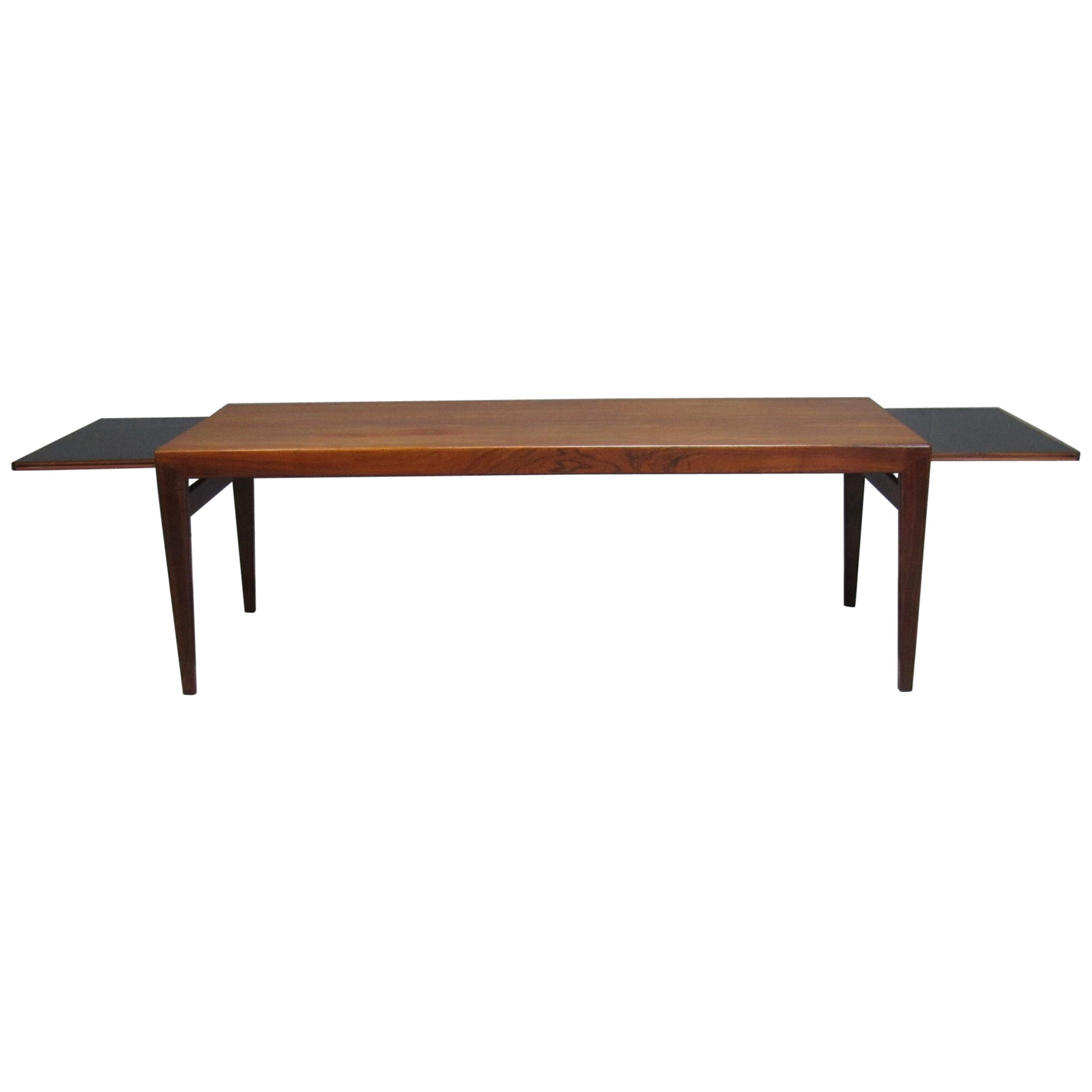 Midcentury Danish Rosewood Extending Coffee Table by Severin Hansen for Haslev