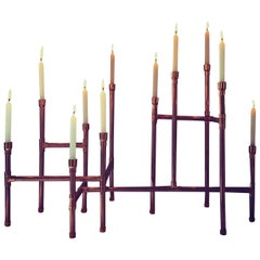 Candleholder in Polished Copper Brazilian Contemporary Style