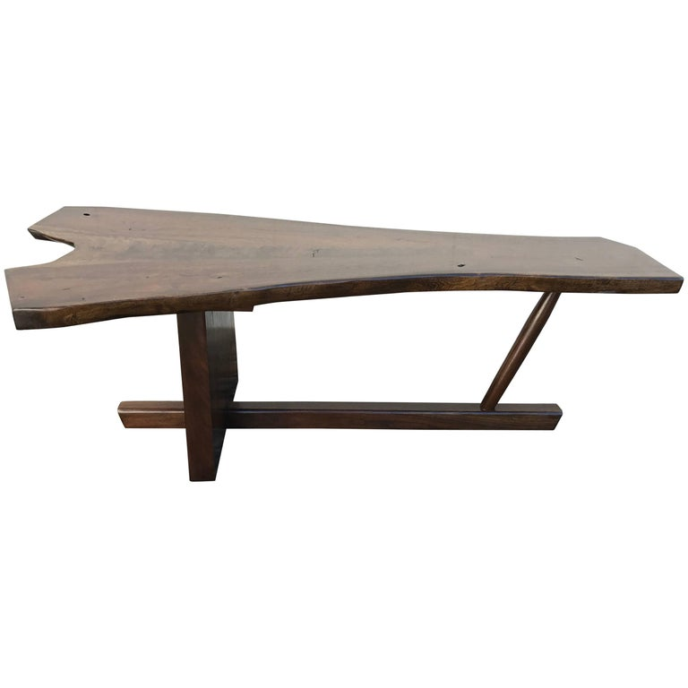 "Nakashima Style Walnut ""Minguren"" Coffee Table"
