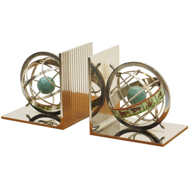 Zodiac Bookends, Italy, 1970s For Sale