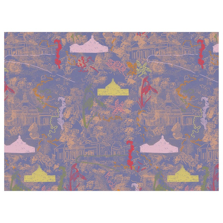 Maharam Serpentine Galleries Wallpaper by Marc Camille Chaimowicz For Sale