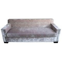 'Streamline' Sofa, Modern Art Deco Inspired, Clean Line Minimal Three-Seat