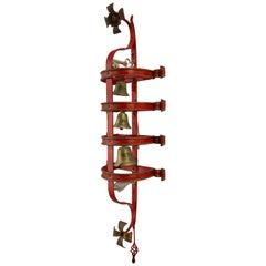Antique Ecclesiastical Triple Tiered Sanctus Bells