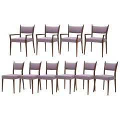 Set of Ten Dining Chairs by Paul McCobb for Calvin, New Lavender Upholstery