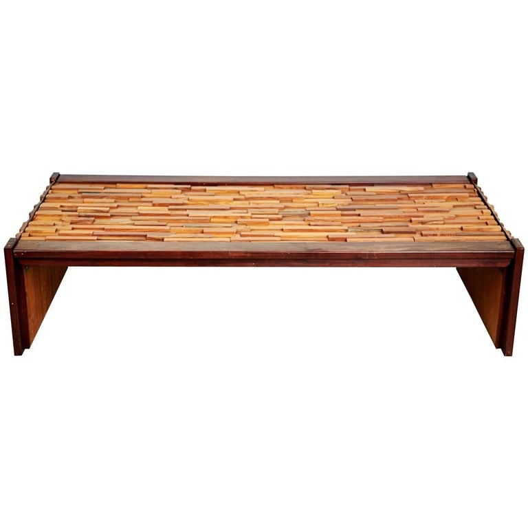 Percival Lafer Exotic Wood Long Coffee Table For L 39 Atelier De Sao Paulo Brazil For Sale At 1stdibs