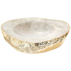 Casca Large Bowl Crystal and Gold - In Stock