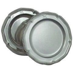 Pair of George III Silver Dinner Plates