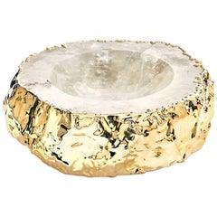 Cascita Small Bowl Crystal and Gold - In Stock