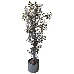 Silver Curtis Jere Silver Raindrops Tree Sculpture