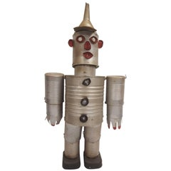 Mid-20th Century Folk Art Figure of the Tin Man from the Wizard of Oz