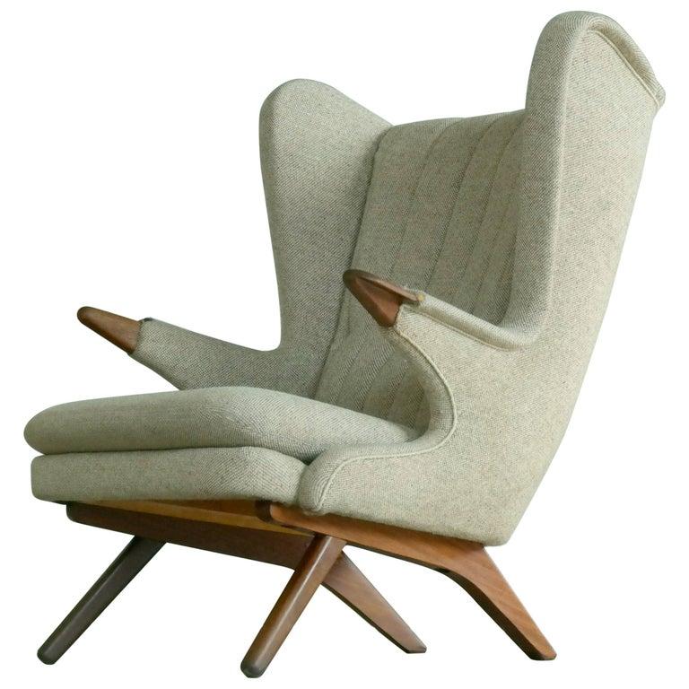 Sven Skipper 1960s Papa Bear Chair Model 91 in the Style of Hans Wegner