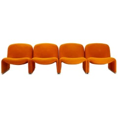 Four Alky Armchairs by Giancarlo Piretti for Anonima Castelli