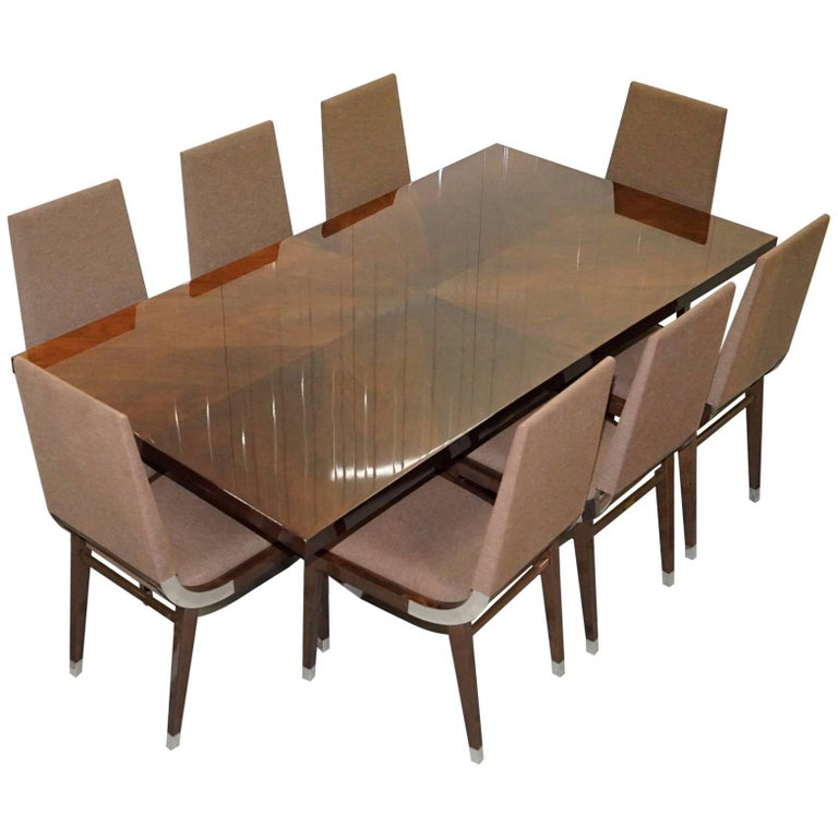 Kesterport American Walnut Extending Dining Table And