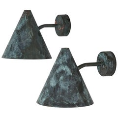 Hans-Agne Jakobsson Wall Lamps Model Tratten in Copper