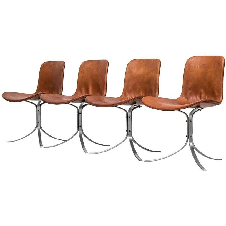 Poul Kjærholm PK-9 Dining Chairs by E. Kold Christensen in Denmark