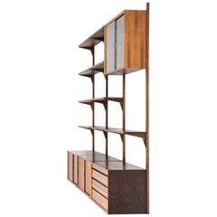 Poul Cadovius Wall Mounted Bookcase Model Cado Produced in Denmark