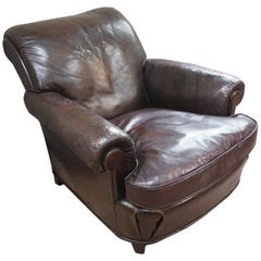 Large Late 19th Century Leather Armchair