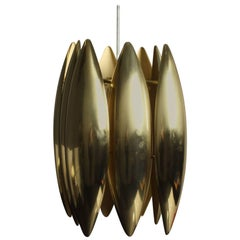 Jo Hammerborg Kastor Golden Brass Pendant for Fog & Mørup, 1970