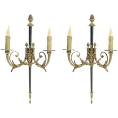 Pair of Sconces in Bronze in the Style of Napoleon III, 20th Century
