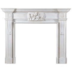 Statuary Marble 18th Century Georgian Fireplace