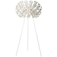 Moooi Dandelion Floor Lamp in White Powder Coated Metal