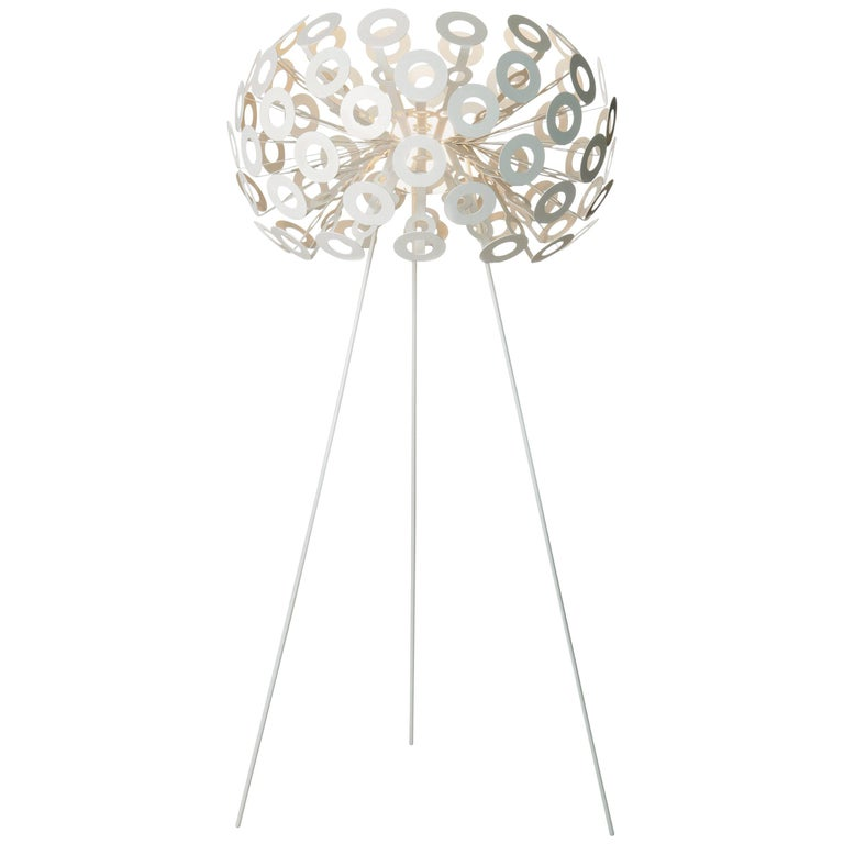 Moooi Dandelion Floor Lamp in White Powder Coated Metal For Sale