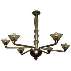 Stunning Venini Art Deco Chandelier