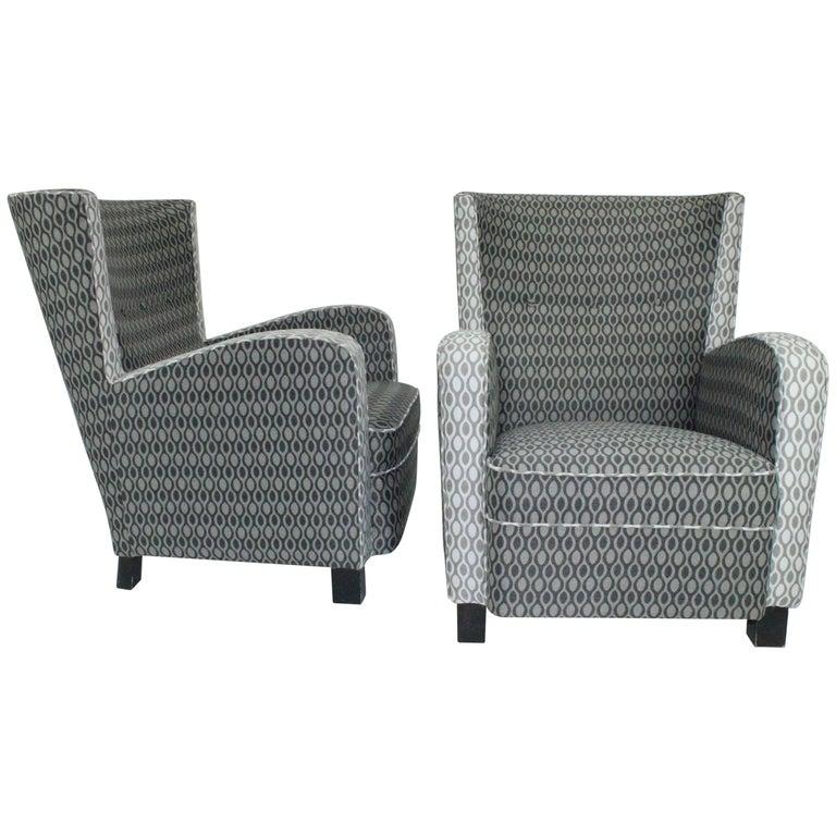 Pair of Swedish 1930s Easy Chairs Attributed to Margareta Köhler for Futurum