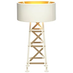 Moooi Construction Floor Lamp in Matt Black or White and Wood