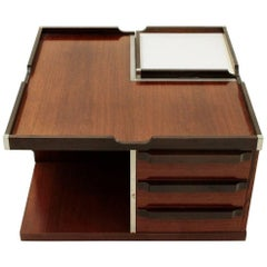 Square Coffee Table with Bar by Fiarm