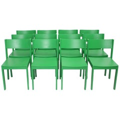 Green Mid-Century Modern Carl Auböck Dining Room Chairs 1956 Vienna