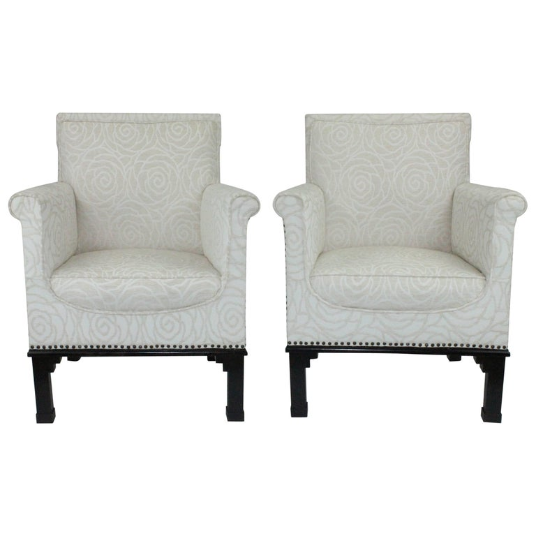 Pair of Swedish 1930s Lounge Chairs Attributed to Otto Schulz for Boet