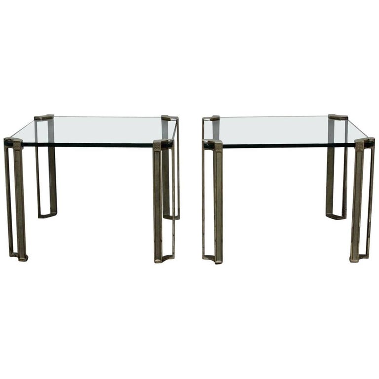 Pair of 1970s Occasional or Sofa Tables by Peter Ghyczy