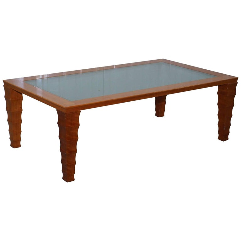 Rare Handmade In Italy Giorgetti Maple Wood Coffee Table