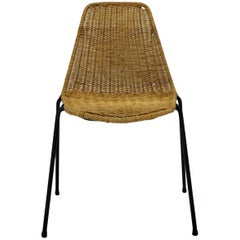 Rattan Basket Chair by Gian Franco Legler, 1951, Switzerland