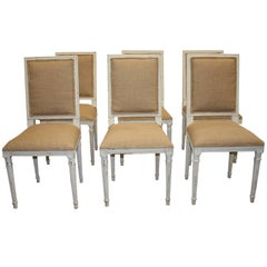Set of Six Painted French Chairs