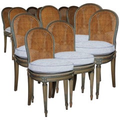 Set of 12 Louis XVI Style Painted Dining Chairs, circa 1920s