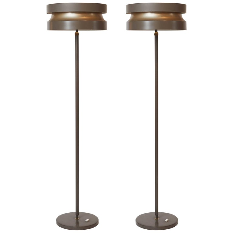 Pair of Floor Lamps by Lisa Johansson Pape, 1960s