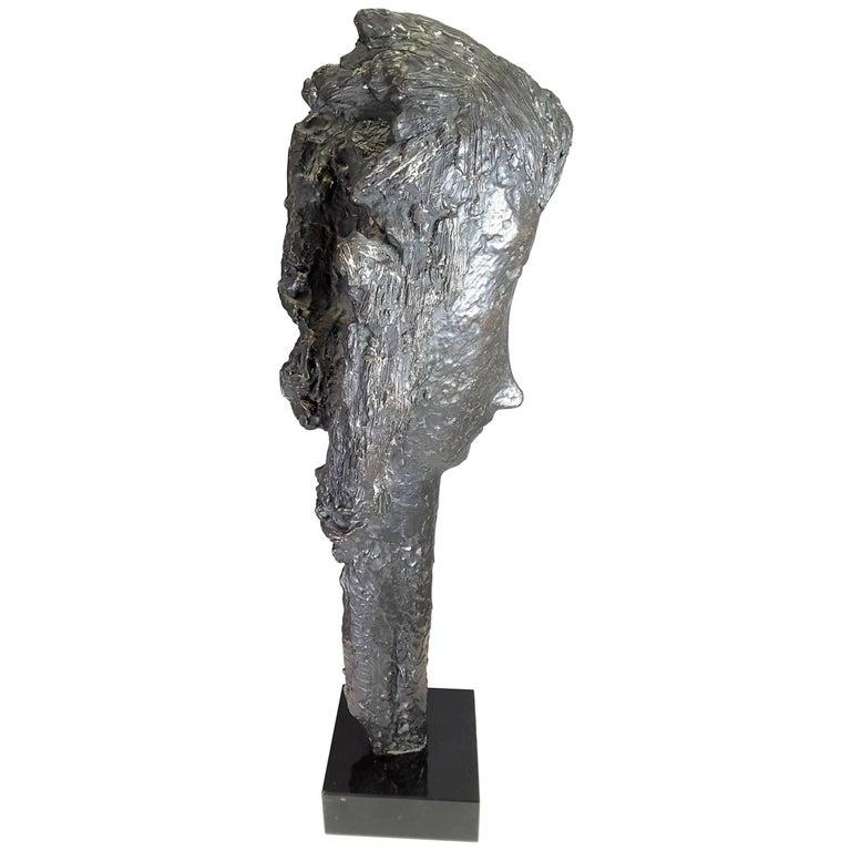 Tall Head Bronze Sculpture by Almuth Lutkenhaus, 1930-1996