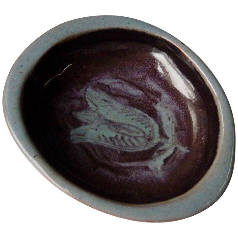 1940s Eugene Deutch Modern Ceramic Dish For Sale