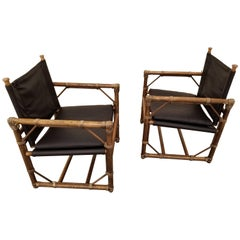 Eleanor Forbes Leather Lounge Chairs