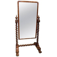 Fantastic Quality Mahogany Early Victorian Period Antique Cheval Mirror