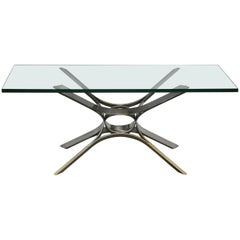 Sculptural Chrome Coffee Table by Roger Sprunger for Dunbar
